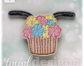 """Basket With Flowers Stackable Feltie Digital Design File - 1.75"""""""