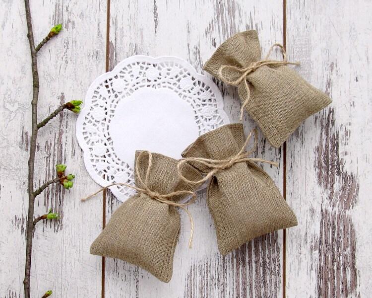 Wedding Gift Bags Burlap : 100 Rustic Burlap Favor Bags Wedding Gift Bags Candy Bags