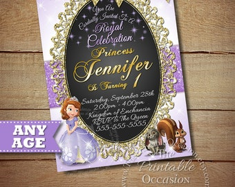 Sofia the First Invitation, Princess Photo Invitation, Sofia the First Birthday Party Invitation, Princess Invitation, Sofia Birthday Invite