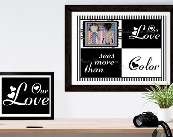 Interracial Love sees  more than color 8X10 download