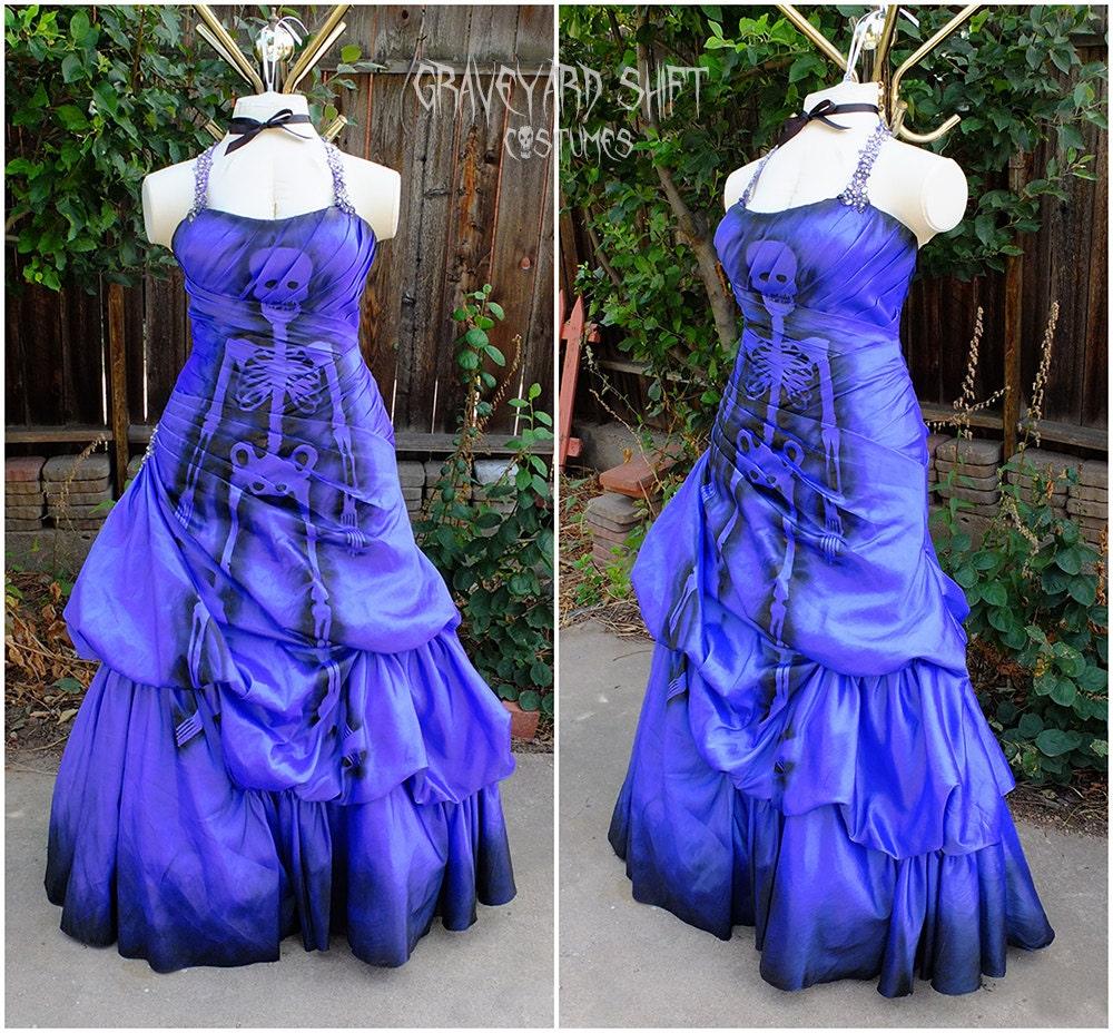 PLUS SIZE Zombie Halloween Costume // Dead Prom Queen Gown
