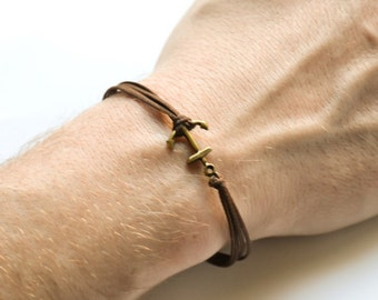 anker armband herren armband silber anker schwarze kordeln. Black Bedroom Furniture Sets. Home Design Ideas