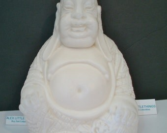Vintage Plastic Buddha Figure Asian Feng Shui Home Decor