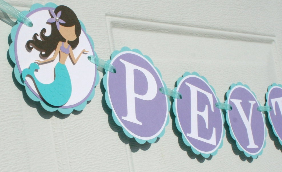 Mermaid Name Banner Under The Sea Banner