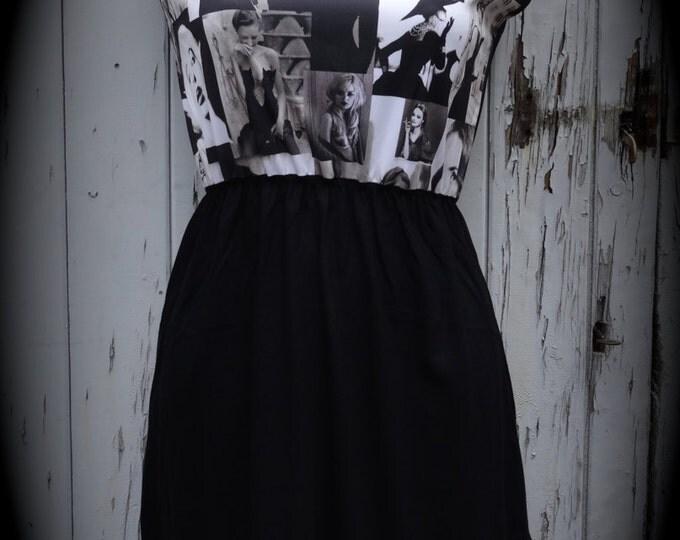 Brand New Black & White Audrey Hepburn Dress - Size 10 12 14 - Digital Print Skater Pin Up Girl 1950s