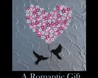 """romantic, anniversary, present, anniversary gift, wedding present, wedding gift, Christmas present, heart, love,wife, girlfriend, 16"""" x 16"""""""