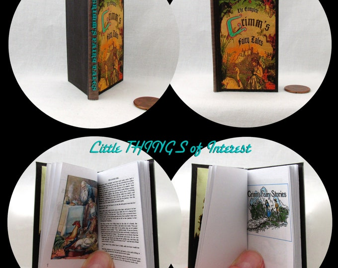 GRIMM'S FAIRY Tales Readable Illustrated Book in 1:3 Scale Book American Girl Doll 18 inch AG Doll 1/3 Scale