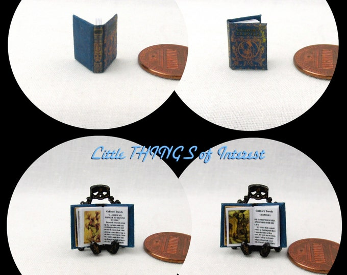 1/24 Scale GULLIVER'S Travels Illustrated Miniature Book Dollhouse Book
