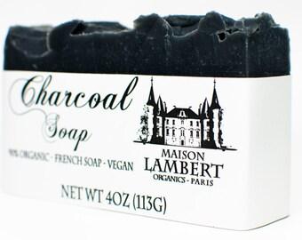 ORGANIC SOAP - Charcoal Soap - Handmade Soap, Men Soap, Tea Tree Soap, Vegan Soap, for Acne Skin, Oily Skin. Neem oil soap - neem soap