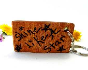 Star Key Chain from Reclaimed Wood