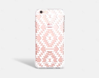 iPhone 6s Case Clear Tribal iPhone 6S Plus Case Clear White Southwestern iPhone 6 Samsung Galaxy Note 5 Clear Samsung Galaxy S6 Case Clear