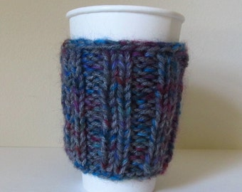 Alpaca, Wool, Mohair Coffee Cup Cozy, Take Out Coffee Cozy, Sweater, Natural Fiber, Warmer, Handmade