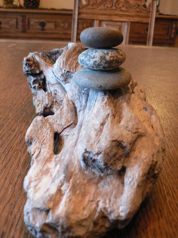 Zen Retreat decor Driftwood center piece by