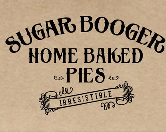Custom Baking Rubber Stamp, Pie Box Stamp, Soap Label Stamp, Cookie Sleeve Stamp