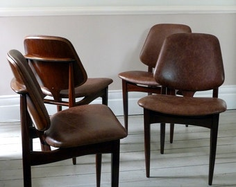 Set of Four Vintage Danish Dining Chairs  c.1960