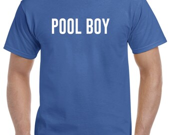 Funny Pool Boy Shirt Swimming Pool