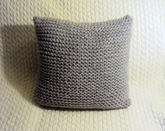 "Chunky Knit Cushion Cover Knit Pillow Case Decorative Pillow Bedroom Decor Baby Room Decor Home Decor Handmade Gift Ideas 16"" x 16"""