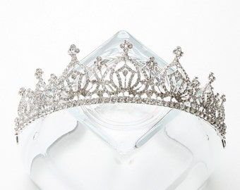 Bridal Tiara Crown, Bridal Crown, Rhinestone Tiara, Crystal Tiara, Bridal Comb Tiara, Bridal Hair Accessories, Bridal Jewelry