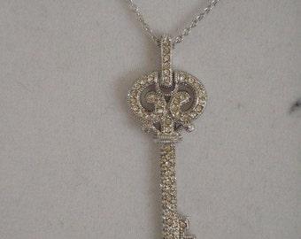 Key Sterling Silver Necklace