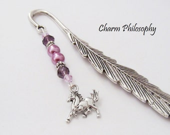 Horse Bookmark - Horse Charm - Unique Bookmarks - Equestrian Gift Ideas - Tibetan Silver Charm Bookmark
