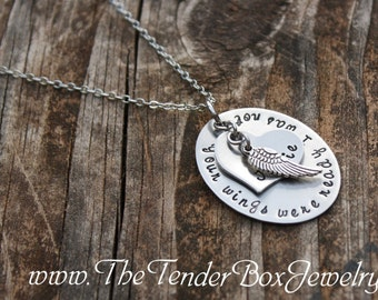 Personalized Memorial Necklace Your wings were ready I was not BC1CXB