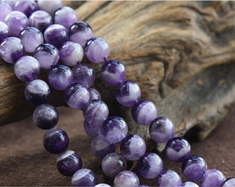 Natural Multi-Tones Amethyst Beads 4mm-16mm NOT Dyed Smooth Polished Round 15 Inch Strand AT28