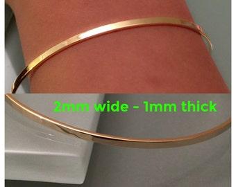 14k Gold Bangle Bracelet, 14K bangle,14k cuff bangle,14k gold bangle,14k gold bracelet,14k Stackable bangle,14k open cuff bangle,10k bangle