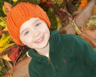 Quick & Easy Knitted Pumpkin Hat Pattern (all sizes)