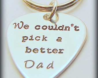 Father of the Bride, guitar pick keychain, Gift for Dad,  Dad gift, Father of the Bride Gift, Dad Birthday gift, Couldnt pick a better dad