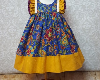 Fall Infant, Toddler, Girls Ruffle Top Dress, Sizes 6 months to 10 girls