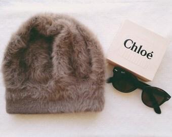 Vintage Faux Fur Beanie Hat