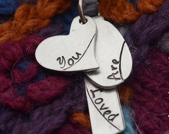 You Are Loved Necklace on Satin Cord