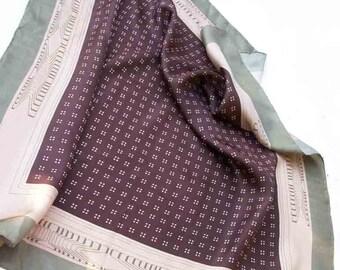 Vintage silk scarf circa 1980's by Striessnig Accessories. January sale, reduced price!