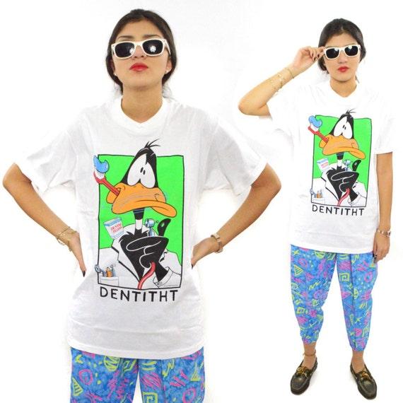 Vintage 90s Daffy Duck Dentitht Warner Bros. T Shirt Sz M
