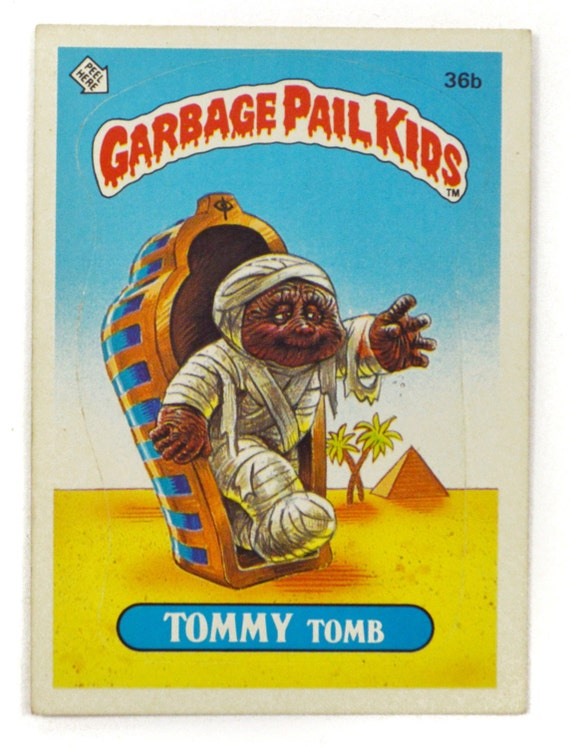 Vintage 80s Tommy Tomb 36b Series 1 Sticker Trading Card