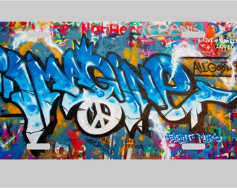 Imagine Peace- Graffiti -License Plate
