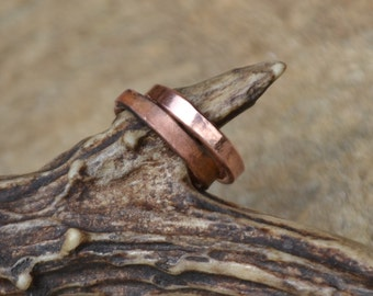 Simple adjustable copper ring band, simple copper ring band, adjustable copper ring band, women's copper ring band, women simple copper ring