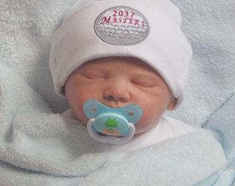 Newborn Hospital Hat. Newborn Hospital Beanie for your Future Golfer. Newborn Golf Hat