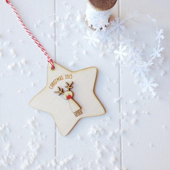Rudolf Christmas Tree Decoration - personalised tree decoration - keepsake christmas decoration