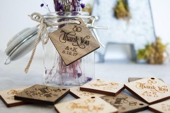 Diamond Wood Tags, Wedding Favor Tags, Thank You Tags, Table ...