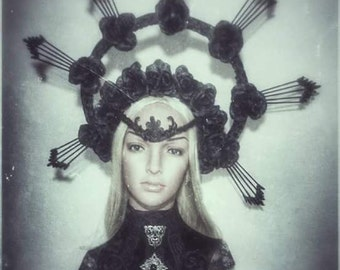 Crown tiara headpiece Redemption Dark gothic victorian vampire WGT halloween halo headdress