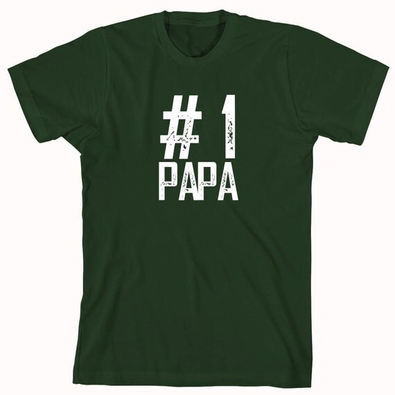 Number 1 Papa Shirt - grandfather gift idea - ID: 671