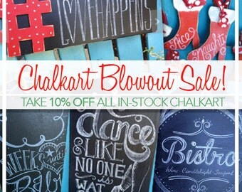 SALE! 10% Off All Chalkboard Art! // Great Christmas Gifts! // Use Coupon Code at Checkout //