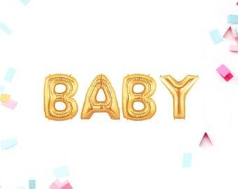 baby shower baby shower decor baby shower balloons baby gold balloons gold baby balloons gold baby shower gold letter balloons
