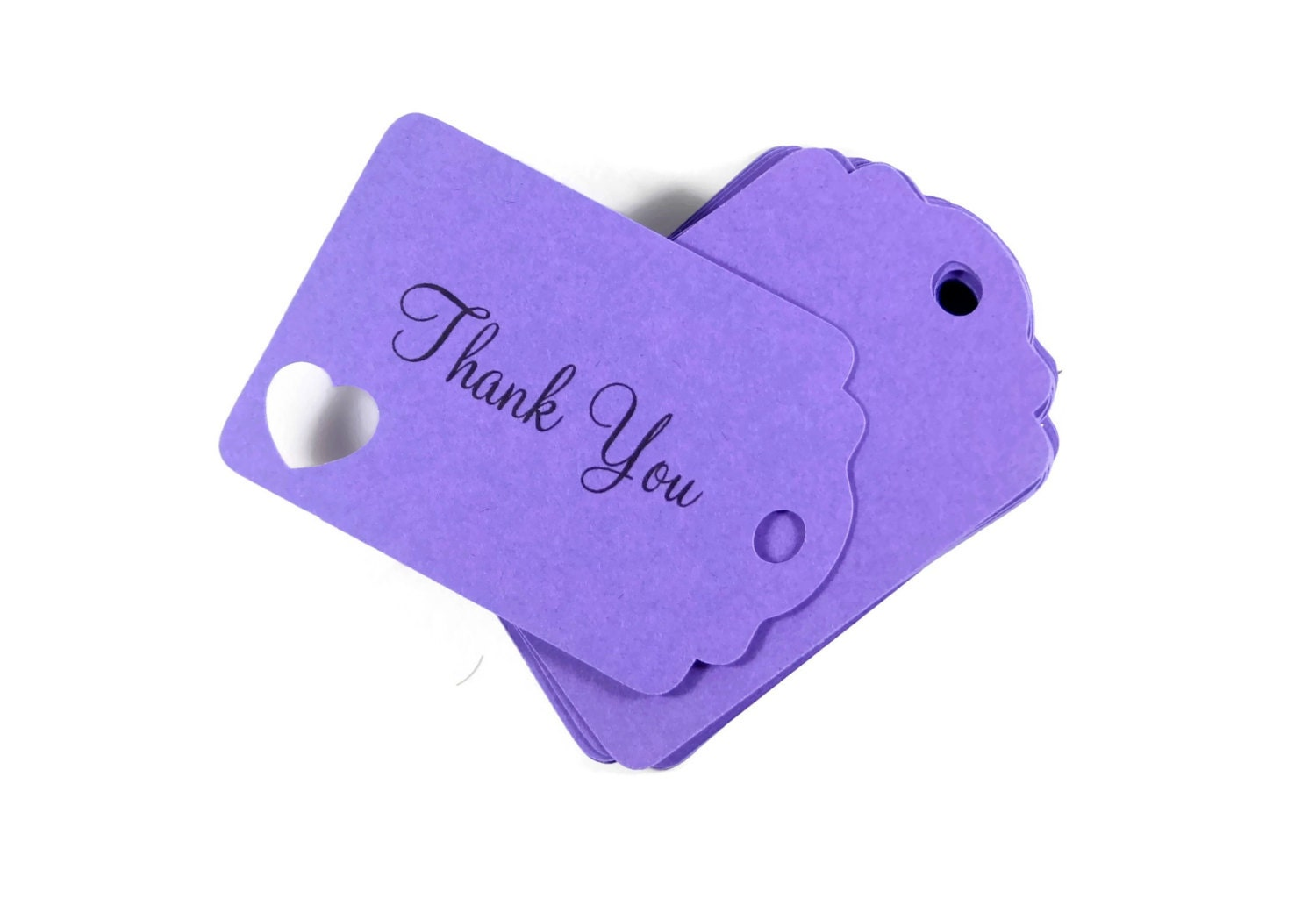 Purple Tag: Purple Thank You Tags Set Of 20 Die Cut Gift Tags Favor