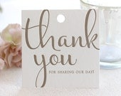Letterpress Favor Tags, gift, bag, custom color, wedding, party, thank you, calligraphy, modern, script, simple