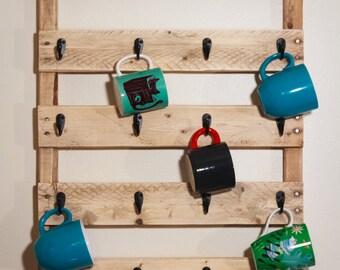 Coffee and Tea Pallet Mug Rack - Large