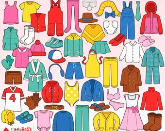 Clothing Clipart and Lineart - for personal and commercial use