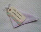 wedding hankie favour handkerchief for happy tears only