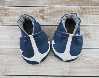 Anchor Baby Shoes, Anchors Tula Accessories, Skipper Tula Accesories,  Toddler shoes, Soft Soled Shoes, Baby Booties, Baby Moccasins, Crib